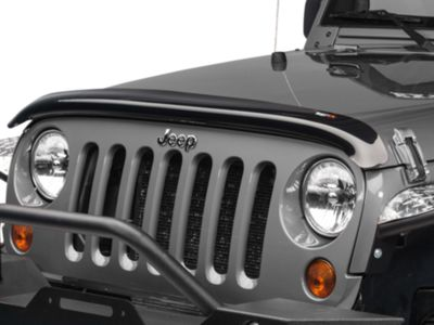 Add Rugged Ridge Smoked Bug Deflector (07-17 Wrangler JK)