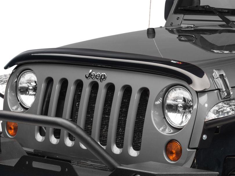 Rugged Ridge Bug Deflector - Smoked (07-18 Jeep Wrangler JK)