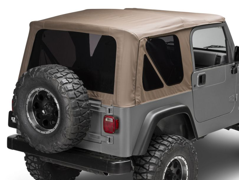 Bestop Replace-A-Top with Tinted Windows; Black Denim (97-02 Jeep Wrangler TJ w/Full Doors w/ Factory Soft Top)