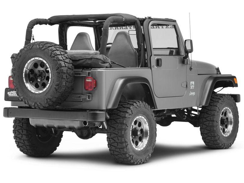 Rugged Ridge Soft Top Storage Boot - Black Denim (97-06 Jeep Wrangler TJ)