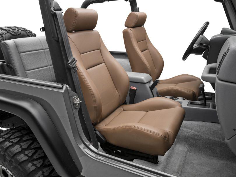 Smittybilt Front Contour Sport Bucket Reclining Seat; Spice Denim (87-02 Jeep Wrangler YJ & TJ)