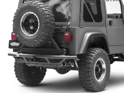 Smittybilt SRC Rear Bumper w/ Tire Carrier (87-06 Jeep Wrangler YJ & TJ)