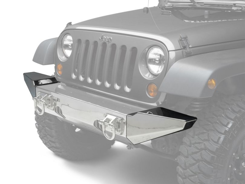 Rugged Ridge XHD Front Bumper Ends; Stainless Steel (07-18 Jeep Wrangler JK)