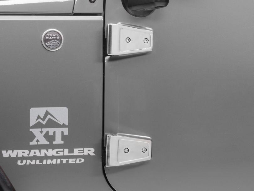 Rugged Ridge Stainless Steel Door Hinge Cover Set (07-18 Jeep Wrangler JK 4 Door)