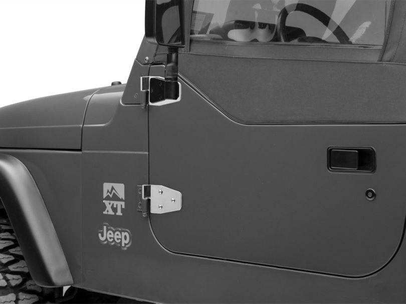 Rugged Ridge Half Door Hinge Set - Stainless Steel (97-06 Jeep Wrangler TJ)