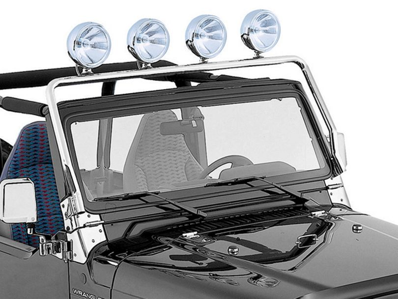 Rugged Ridge Full Frame Light Bar - Stainless Steel (97-06 Jeep Wrangler TJ)