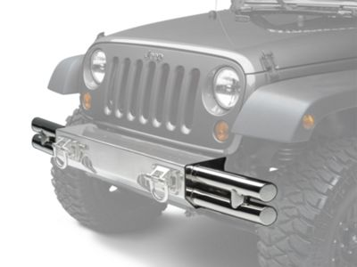 Add Rugged Ridge Tube Ends for XHD Front Bumper - Stainless Steel (07-17 Wrangler JK)