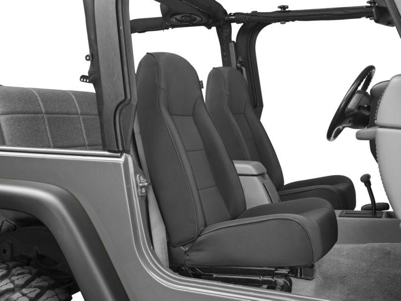 Rugged Ridge Standard Front Bucket Seat - Black Denim (87-02 Jeep Wrangler YJ & TJ)