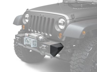 Add Rugged Ridge Stubby Bumper Ends for XHD Front Bumper - Textured Black (07-17 Wrangler JK)