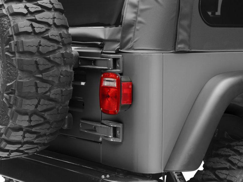 Black Tail Lamp Light Assembly - Right/Passenger Side (91-97 Jeep Wrangler YJ & TJ)