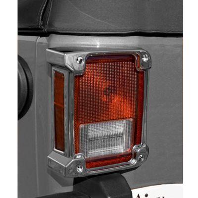Rugged Ridge Tail Light Covers - Chrome (07-18 Jeep Wrangler JK)