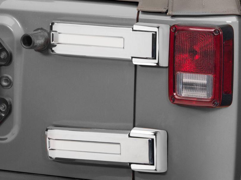 Rugged Ridge Tailgate Hinge Covers - Chrome (07-18 Jeep Wrangler JK)