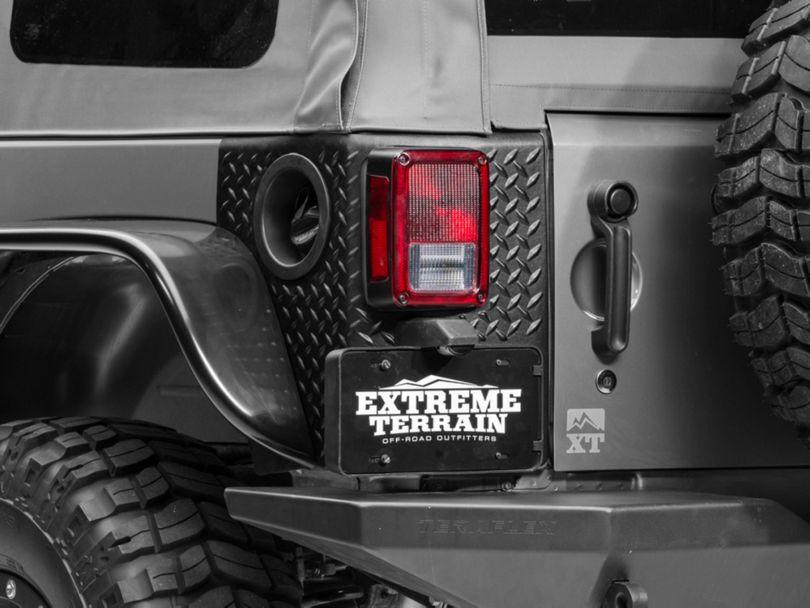 Rugged Ridge Rear Quarter Panel Body Armor Kit (07-18 Jeep Wrangler JK 4 Door)