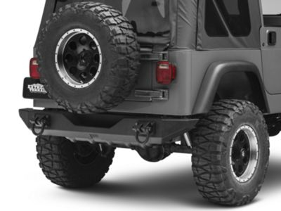 Add Rugged Ridge XHD Rear Bumper - Textured Black (87-06 Wrangler YJ & TJ)