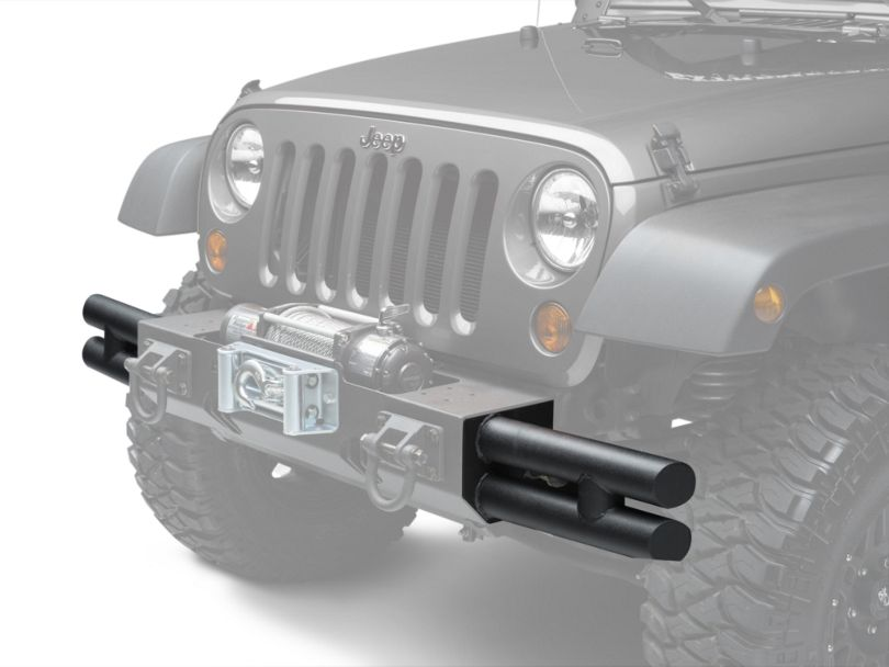 Rugged Ridge Tube Ends for XHD Front Bumper - Textured Black (07-18 Jeep Wrangler JK)