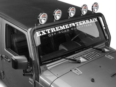 Rugged Ridge Windshield Mounted Light Bar - Textured Black (07-18 Jeep Wrangler JK)