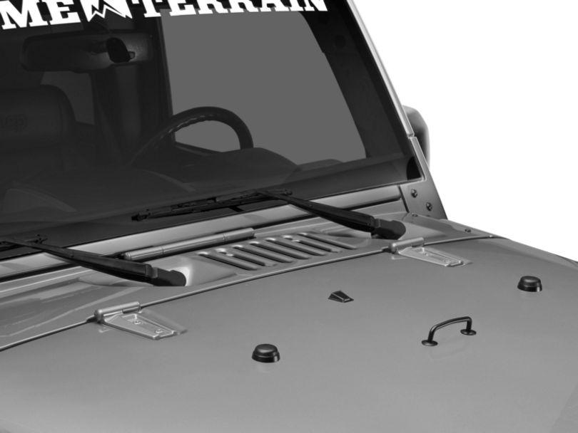 Rugged Ridge Windshield Tie Down Kit - Black (07-12 Jeep Wrangler JK)