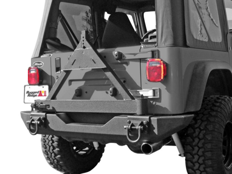 Rugged Ridge XHD Rear Bumper Tire Carrier (87-06 Jeep Wrangler YJ & TJ)