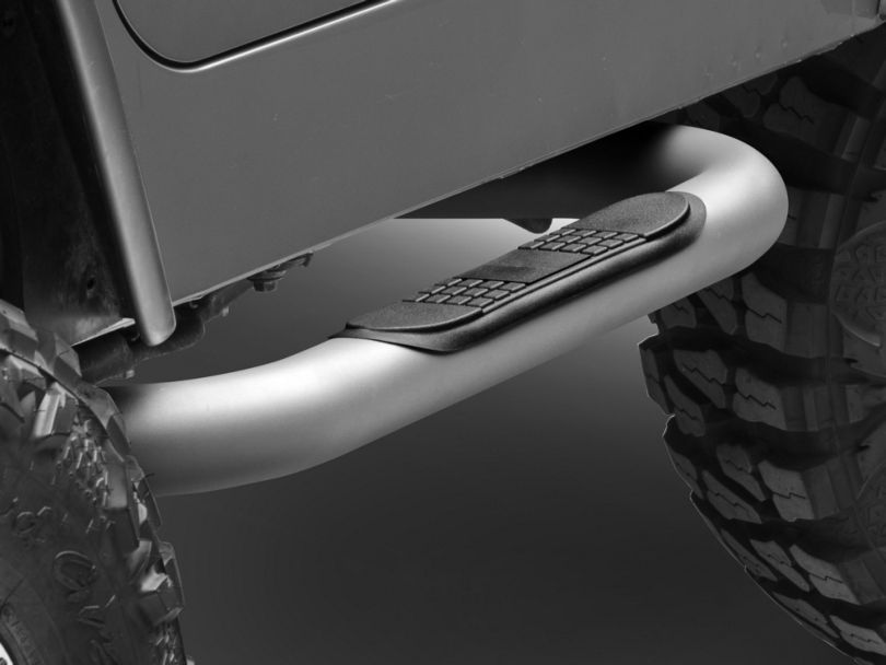 Rugged Ridge Nerf Side Step Bars; Titanium (87-06 Jeep Wrangler YJ & TJ, Excluding Unlimited)