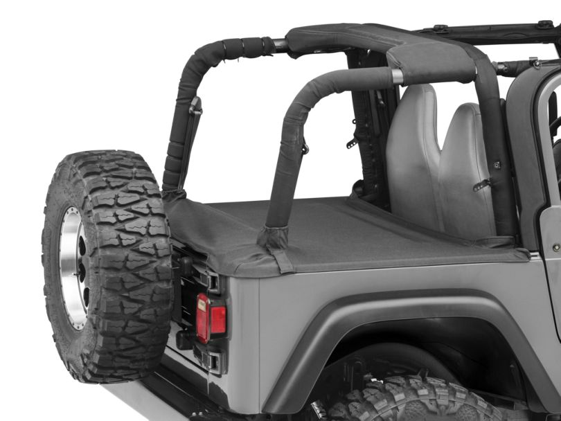 Smittybilt Tonneau Cover - Black Denim (97-06 Jeep Wrangler TJ, Excluding Unlimited)