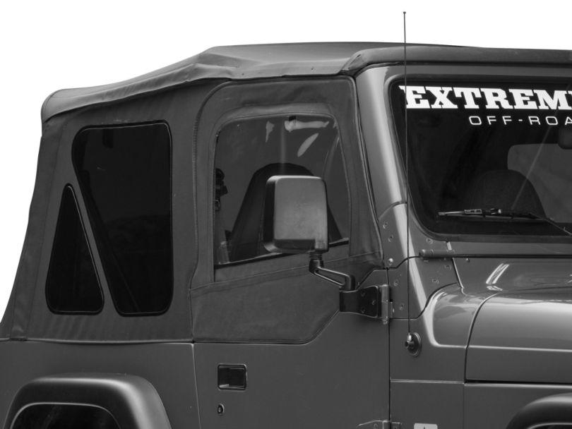 Rugged Ridge Upper Soft Door Kit - Black Denim (97-06 Jeep Wrangler TJ w/ Factory Soft Top)