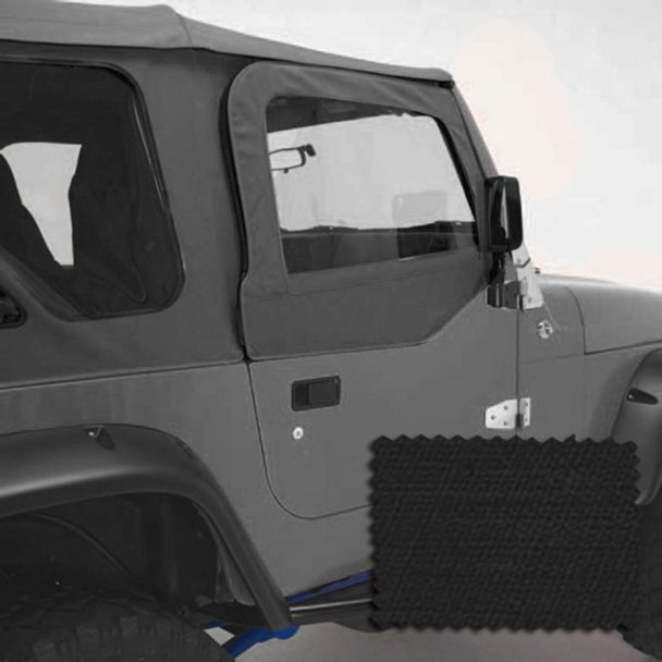 Rugged Ridge Upper Soft Door Kit - Black Diamond (97-06 Jeep Wrangler TJ w/ Factory Soft Top)