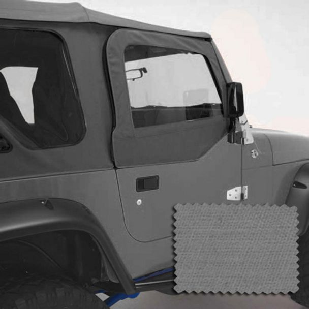 Rugged Ridge Upper Soft Door Kit - Spice (97-06 Jeep Wrangler TJ w/ Factory Soft Top)