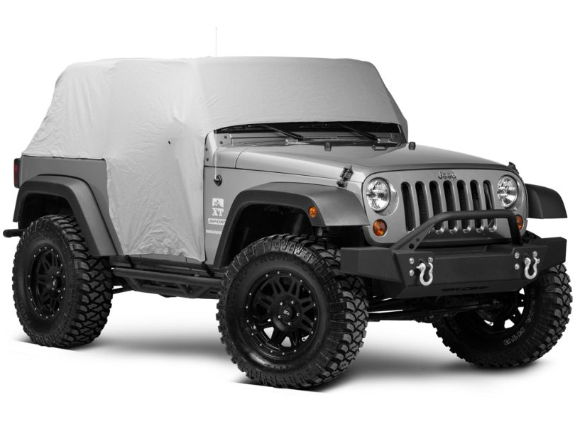 Smittybilt Water Resistant Cab Cover w/ Door Flaps - Gray (07-18 Jeep Wrangler JK 2 Door)