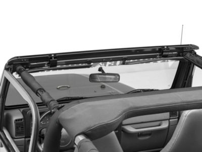 Bestop No-Drill Windshield Channel (97-06 Jeep Wrangler TJ)