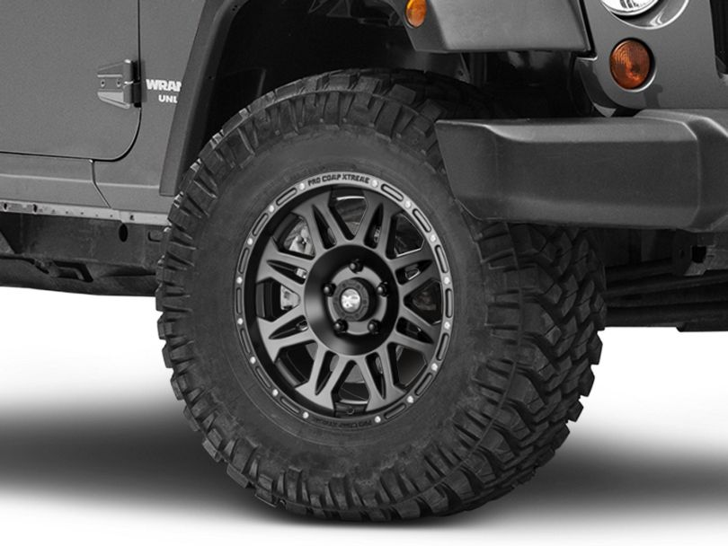 Pro Comp 05 Series Flat Black Wheel - 17x8 (07-18 Jeep Wrangler JK)