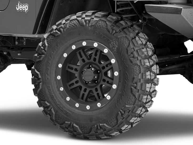 Pro Comp Wheels Series 7031 Flat Black Wheel - 16x8 (97-06 Jeep Wrangler TJ)