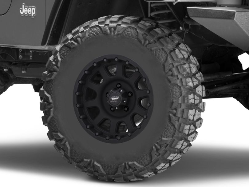 Pro Comp Wheels Series 7032 Flat Black Wheel; 16x8 (97-06 Jeep Wrangler TJ)