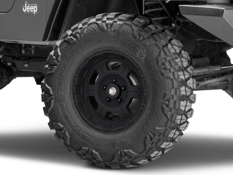 Pro Comp Wheels Series 7089 Black Wheel; 16x8 (97-06 Jeep Wrangler TJ)