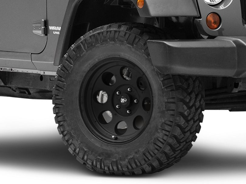 Pro Comp Wheels Series 7069 Flat Black Wheel; 17x9 (07-18 Jeep Wrangler JK)