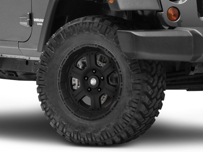 Pro Comp Wheels Series 7089 Flat Black Wheel; 18x9 (07-18 Jeep Wrangler JK)