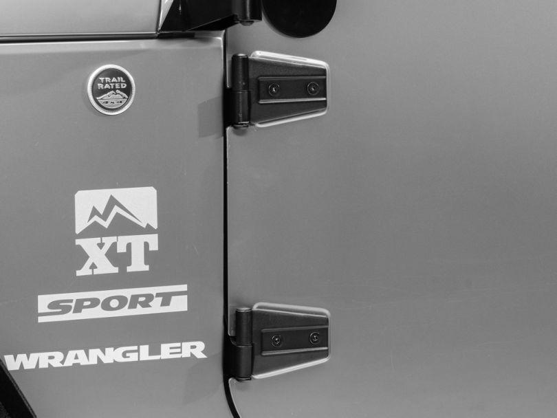 Smittybilt Door Hinges - Black (07-18 Jeep Wrangler JK)