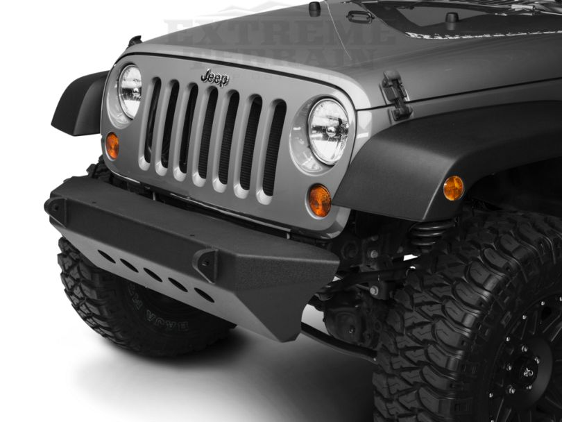 Smittybilt SRC Classic Front Bumper - Textured Black (07-18 Jeep Wrangler JK)