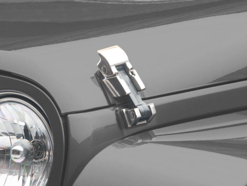 Smittybilt Hood Catch Kits - Stainless Steel (07-18 Jeep Wrangler JK)