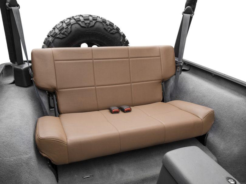 Smittybilt Vinyl Fold and Tumble Rear Seat; Denim Spice (97-06 Jeep Wrangler TJ)