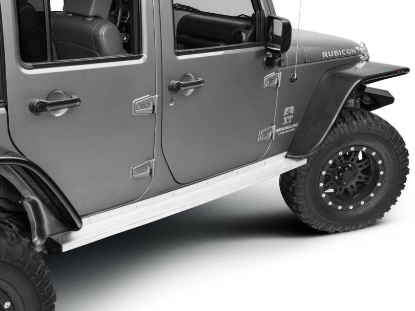 Teraflex Rock Slider KIT NO PAINT (07-18 Jeep Wrangler JK 4 Door)
