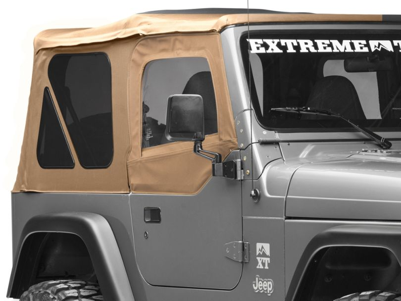 Smittybilt Soft Top Door Skin w/ Frame & Clear Windows - Passenger Side - Spice Denim (97-06 Jeep Wrangler TJ)