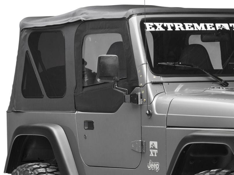 Smittybilt Soft Top Door Skins w/ Clear Windows - Black Denim (97-06 Jeep Wrangler TJ)