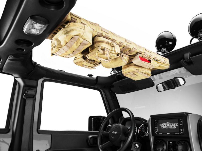 Smittybilt GEAR Overhead Console; Coyote Tan (07-18 Jeep Wrangler JK)