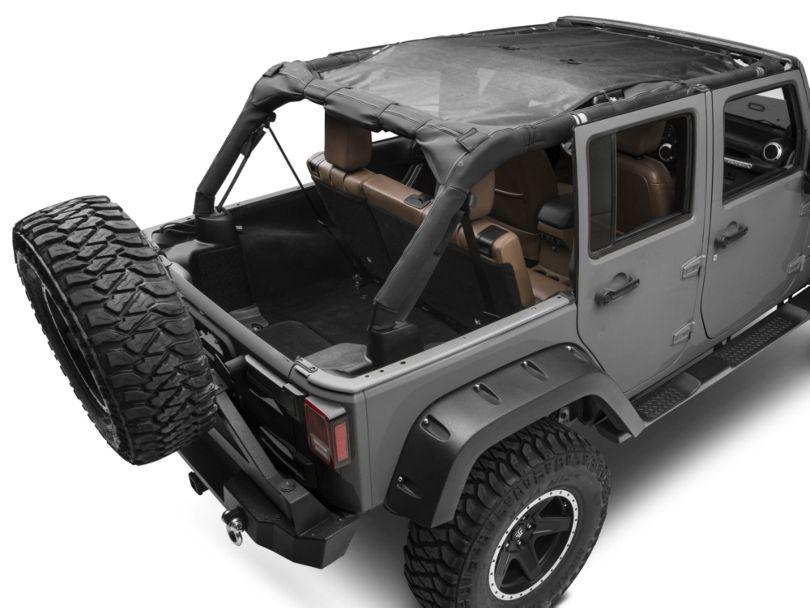 Smittybilt Mesh Extended Top (07-09 Jeep Wrangler JK 4 Door)