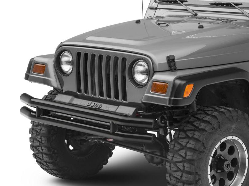 Smittybilt Tubular Front Bumper - Gloss Black (87-06 Jeep Wrangler YJ & TJ)