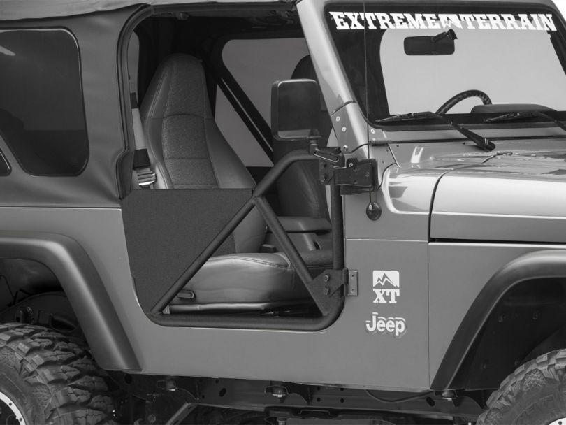 Smittybilt SRC Tubular Doors - Front - Black Textured (97-06 Jeep Wrangler TJ)