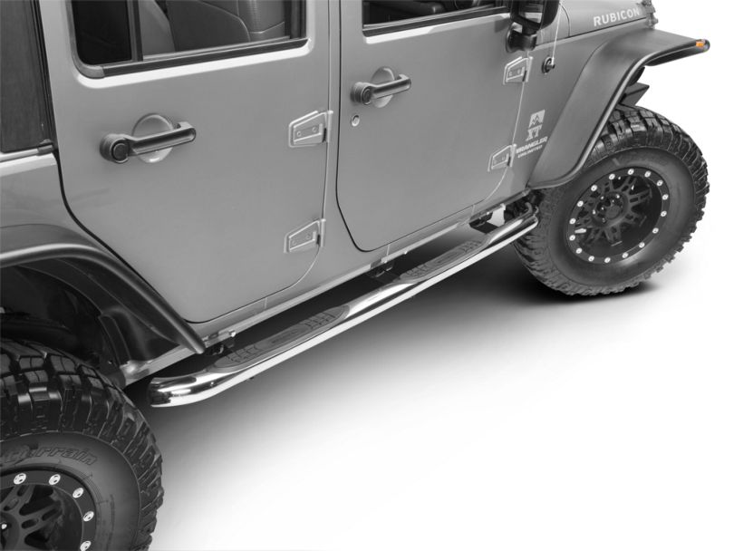 Smittybilt 3 in. Sure Side Step Bars - Stainless Steel (07-18 Jeep Wrangler JK 4 Door)