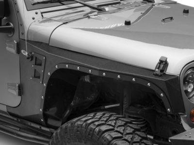 Add Smittybilt XRC Front Fenders - Black Textured (07-17 Wrangler JK)