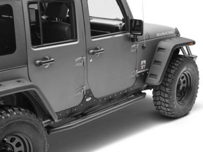 Smittybilt XRC Body Cladding - Black Textured (07-18 Jeep Wrangler JK 4 Door)