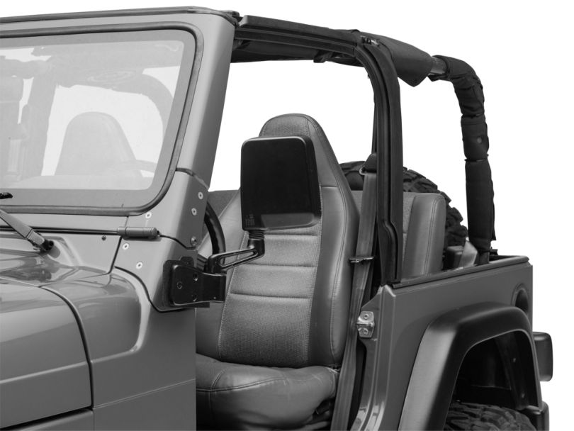 Smittybilt Mirror Relocation Bracket - Textured Black (97-06 Jeep Wrangler TJ)